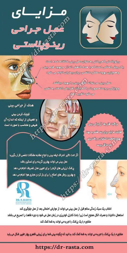 مزایای جراحی رینوپلاستی